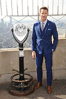 www.acepixs.com<br /> February 21, 2017  New York City<br /> <br /> Justin Hartley visits The Empire State Building observatory on February 21, 2017 in New York City.<br /> <br /> Credit: Kristin Callahan/ACE Pictures<br /> <br /> <br /> Tel: 646 769 0430<br /> Email: info@acepixs.com