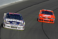 Dale Earnhardt,Jr. (#88) and Joey Logano (#20)
