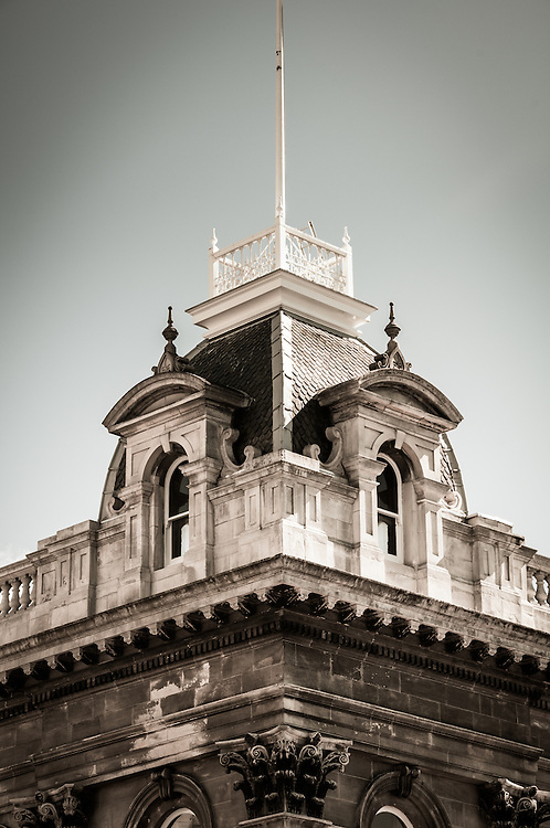 Architectural detail of the Municipal Chambers, Dunedin CIty, New Zealand (toned Image) - stock photo, canvas, fine art print