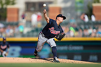 Gwinnett Braves starting pitcher Kris Medlen (54) in action against the Charlotte Knights at BB&T BallPark on July 16, 2017 in Charlotte, North Carolina.  The Knights defeated the Braves 5-4.  (Brian Westerholt/Four Seam Images)