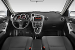 Straight dashboard view of a 2008 Toyota Matrix wagon.