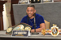 Lyon Woodstock during a Press Conference at the Landmark London Hotel on 2nd August 2018