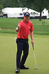 Luke Donald (ENG) on the10th green on day 1 of the World Golf Championship Bridgestone Invitational, from Firestone Country Club, Akron, Ohio. 4/8/11.Picture Fran Caffrey www.golffile.ie