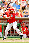 11 June 2006: Jose Guillen, outfielder for the Washington Nationals, at bat during a game against the Philadelphia Phillies at RFK Stadium, in Washington, DC. The Nationals shut out the visiting Phillies 6-0 to take the series three games to one...Mandatory Photo Credit: Ed Wolfstein Photo..