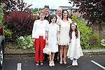 Hannah Fay with her family at the Confirmation in Holy Family Church Ballsgrove...(Photo credit should read Jenny Matthews www.newsfile.ie)....This Picture has been sent you under the conditions enclosed by:.Newsfile Ltd..The Studio,.Millmount Abbey,.Drogheda,.Co Meath..Ireland..Tel: +353(0)41-9871240.Fax: +353(0)41-9871260.GSM: +353(0)86-2500958.email: pictures@newsfile.ie.www.newsfile.ie.