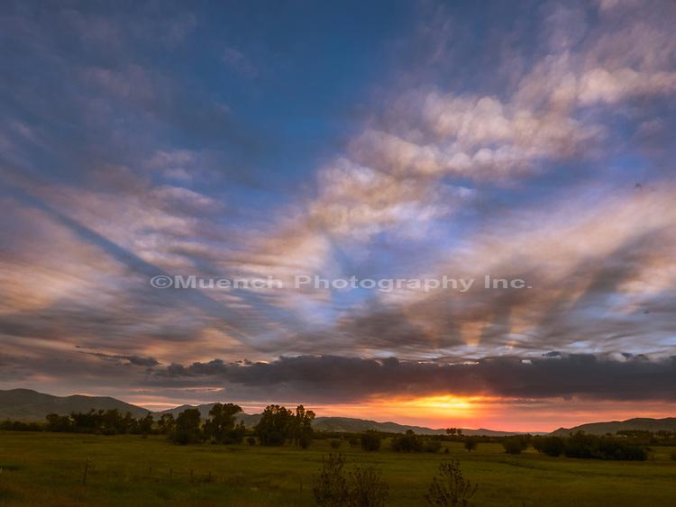 Evening sky in Montana.