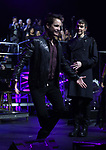 """Pat Monahan and Tony Vincent during the Broadway Opening Night Performance Curtain Call of  """"Rocktopia"""" at The Broadway Theatre on March 27, 2018 in New York City."""