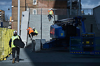 Tottenham new stadium undergoes remedial works on the safety systems at White Hart Lane, London, England on 7 February 2019. Photo by Vince  Mignott.