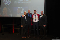 San Francisco, CA - Saturday Feb. 14, 2015: (Left to right): US Soccer president Sunil Gulati, Kasey Keller, US Soccer inductee Brian McBride and his brother Matt McBride pose for a photograph.  Brian McBride was inducted into the Hall of Fame at the 2014 US Soccer Hall of Fame Induction ceremony.