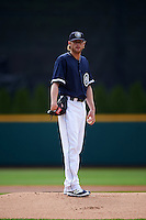 Columbus Clippers starting pitcher Ross Detwiler (41) during a game against the Lehigh Valley IronPigs on May 12, 2016 at Huntington Park in Columbus, Ohio.  Lehigh Valley defeated Columbus 2-1.  (Mike Janes/Four Seam Images)