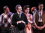 Jim Borstelmann, Rob McClure, Christiane Noll & Wayne Alan Wilcox during the Curtain Call and check presentation to The Lil' Bravest Charity Inc. at 'Chaplin' at the Barrymore Theatre in New York City on 11/09/2012