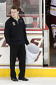 Neal Ratto (BC - Manager) - The Boston College Eagles defeated the Merrimack College Warriors 4-2 to give Head Coach Jerry York his 900th collegiate win on Friday, February 17, 2012, at Kelley Rink at Conte Forum in Chestnut Hill, Massachusetts.