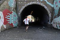 Roma, marzo 2015<br /> Murales nel quartiere popolare del Quadraro nella periferia sud est di Roma.<br /> Murales di Gio Pistone.