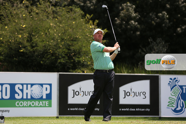 Ross McGowan (ENG) plays to the par 3 13th on the West Course during Round Two of the Joburg Open 2015 at the Royal Johannesburg & Kensington Golf Club, Johannesburg, Gauteng, South Africa. Picture:  David Lloyd / www.golffile.ie. 27/02/2015