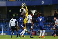 Tottenham Hotspur goalkeeper, Brandon Austin, makes fine save during Chelsea Under-23 vs Tottenham Hotspur Under-23, Premier League 2 Football at Stamford Bridge on 13th April 2018