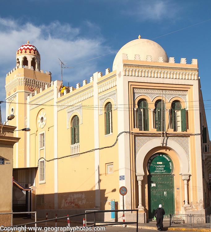 Mezquita Central, central mosque building designed by Enrique Nieto 1945, Melilla, north Africa, Spain
