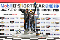 IMSA Continental Tire SportsCar Challenge<br /> Mobil 1 SportsCar Grand Prix<br /> Canadian Tire Motorsport Park<br /> Bowmanville, ON CAN<br /> Saturday 8 July 2017<br /> 56, Porsche, Porsche Cayman, ST, Jeff Mosing, Eric Foss, podium win, winner, victory lane<br /> World Copyright: Scott R LePage/LAT Images