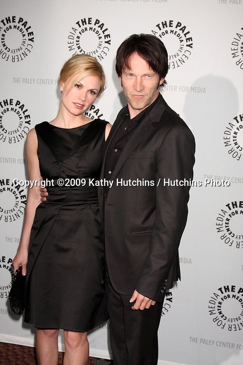 """Anna Paquin  & Steven Moyer arriving at the """"True Blood"""" PaleyFest09 event on April 13 ,2009 at the ArcLight Theaters in Los Angeles, California..©2009 Kathy Hutchins / Hutchins Photo....                ."""