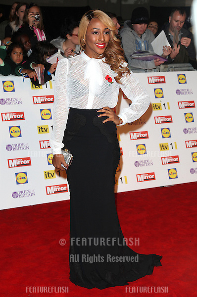 Alexandra Burke arriving for the 2012 Pride of Britain Awards, at the Grosvenor House Hotel, London. 29/10/2012 Picture by: Alexandra Glen / Featureflash