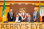 New Mayors elected on Monday afternoon in County Buildings were: John Francis Flynn (Mayor of the South West Municipal District), Terry O'Brien (Mayor of Tralee), Aoife Thornton (Mayor of Listowel Municipal District), Michael O'Shea (Mayor of Kerry) and Brendan Cronin (Mayor of Killarney).