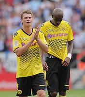 FUSSBALL   1. BUNDESLIGA  SAISON 2011/2012   2. Spieltag   13.08.2011 TSG 1899 Hoffenheim - Borussia Dortmund  Enttaeuschung Borussia Dortmund:  Lukasz Piszczek (li) und Felipe Santana