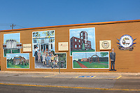 Murals along Route 66 in Bethany Oklahoma.