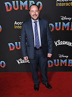 11 March 2019 - Hollywood, California - Derek Frey. &quot;Dumbo&quot; Los Angeles Premiere held at Ray Dolby Ballroom. Photo <br /> CAP/ADM/BT<br /> &copy;BT/ADM/Capital Pictures