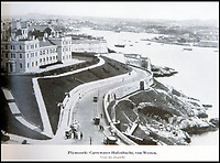 BNPS.co.uk (01202 558833)<br /> Pic: PhilYeomans/BNPS<br /> <br /> Plymouth - where Drake had set sail to see off another invasion threat.<br /> <br /> Chilling - Hitlers 'How to' guide to the invasion of Britain.<br /> <br /> A remarkably detailed invasion plan pack of Britain has been unearthed to reveal how our genteel seaside resorts would have been in the front line had Hitler got his way in World War Two.<br /> <br /> The Operation Sea Lion documents, which were issued to German military headquarters' on August 1, 1940, contain numerous maps and photos of every town on the south coast.<br /> <br /> They provide a chilling reminder of how well prepared a German invading force would have been had the Luftwaffe not been rebuffed by The Few in the Battle of Britain.<br /> <br /> There is a large selection of black and white photos of seaside resorts and notable landmarks stretching all the way from Land's End in Cornwall to Broadstairs in Kent.<br /> <br /> The pack also features a map of Hastings, raising the possibility that a second battle could have been staged there, almost 900 years after the invading William The Conqueror triumphed in 1066.