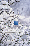 Christmas Ornament (Blue) in Snow