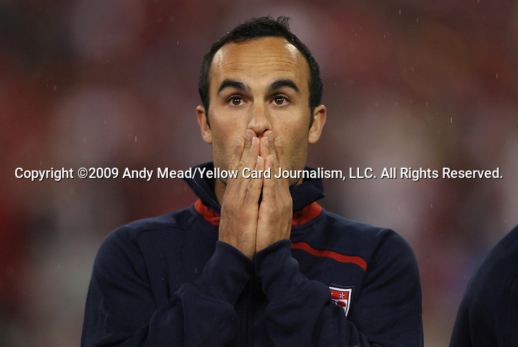 14 October 2009: Landon Donovan (USA). The United States Men's National Team played the Costa Rica Men's National Team to a 2-2 tie at RFK Stadium in Washington, DC in the Hexagonal, the final CONCACAF round, a FIFA 2010 South Africa World Cup Qualifier.