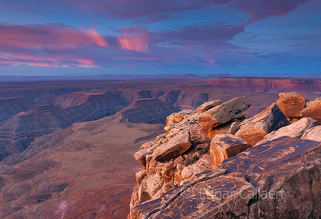 Dawn, Muley Point, Monument Valley, Glen Canyon National Recreation Area, Utah