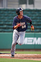 Minnesota Twins Aaron Whitefield (55) during an Instructional League game against the Boston Red Sox on September 23, 2016 at JetBlue Park at Fenway South in Fort Myers, Florida.  (Mike Janes/Four Seam Images)