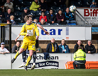 Mark Hughes of Accrington Stanley during the Sky Bet League 2 match between Wycombe Wanderers and Accrington Stanley at Adams Park, High Wycombe, England on the 30th April 2016. Photo by Liam McAvoy / PRiME Media Images.