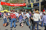 Square Dancing on Eigth Avenue Mall in downtown  Calgary, Alberta, Canada.