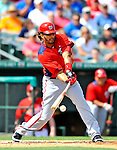 3 March 2011: Washington Nationals' outfielder Michael Morse in action during a Spring Training game against the St. Louis Cardinals at Roger Dean Stadium in Jupiter, Florida. The Cardinals defeated the Nationals 7-5 in Grapefruit League action. Mandatory Credit: Ed Wolfstein Photo