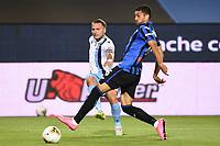 24th June 2020, Bergamo, Italy; Seria A football league, Atalanta versus Lazio;  Ciro Immobile gets his shot goalwards