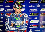 The rider Jorge Lorenzo in the box during free practice on friday at the circuit Sachenring. MotoGP. Germany. 11/07/2014. Samuel de Roman / Photocall3000