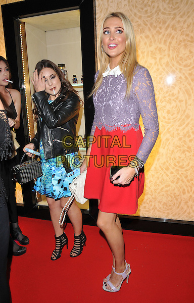 Louise Thompson &amp; Stephanie Pratt attend the #Disaronno Wears Cavalli cocktail reception to mark new Disaronno Limited Edition bottle by Cavalli, Roberto Cavalli boutique, Sloane Street, London, England, UK, on Wednesday 04 November 2015. <br /> CAP/CAN<br /> &copy;Can Nguyen/Capital Pictures