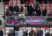 West Ham United supporters<br /> <br /> Photographer David Horton/CameraSport<br /> <br /> The Premier League - Bournemouth v West Ham United - Saturday 28th September 2019 - Vitality Stadium - Bournemouth<br /> <br /> World Copyright © 2019 CameraSport. All rights reserved. 43 Linden Ave. Countesthorpe. Leicester. England. LE8 5PG - Tel: +44 (0) 116 277 4147 - admin@camerasport.com - www.camerasport.com