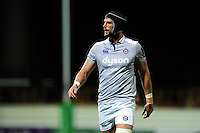 Luke Charteris of Bath Rugby looks on during a break in play. European Rugby Challenge Cup match, between Pau (Section Paloise) and Bath Rugby on October 15, 2016 at the Stade du Hameau in Pau, France. Photo by: Patrick Khachfe / Onside Images