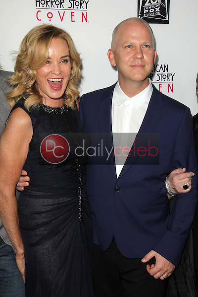 """Jessica Lange, Ryan Murphy<br /> at the """"American Horror Story Coven"""" Red Carpet Event, Pacific Design Center, West Hollywood, CA 10-05-13<br /> David Edwards/Dailyceleb.com 818-249-4998"""