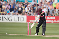 Babar Azam of Somerset CCC drives to the point boundary during Essex Eagles vs Somerset, Vitality Blast T20 Cricket at The Cloudfm County Ground on 7th August 2019