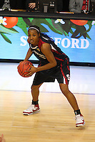 8 April 2008: Stanford Cardinal Candice Wiggins during Stanford's 64-48 loss against the Tennessee Lady Volunteers in the 2008 NCAA Division I Women's Basketball Final Four championship game at the St. Pete Times Forum Arena in Tampa Bay, FL.