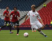 Men's Olympic Football match Egypt v Belarus on 1.8.12...Maksim Skavysh of Belarus, during the Men's Olympic Football match between Egypt v Belarus at Hampden Park, Glasgow..