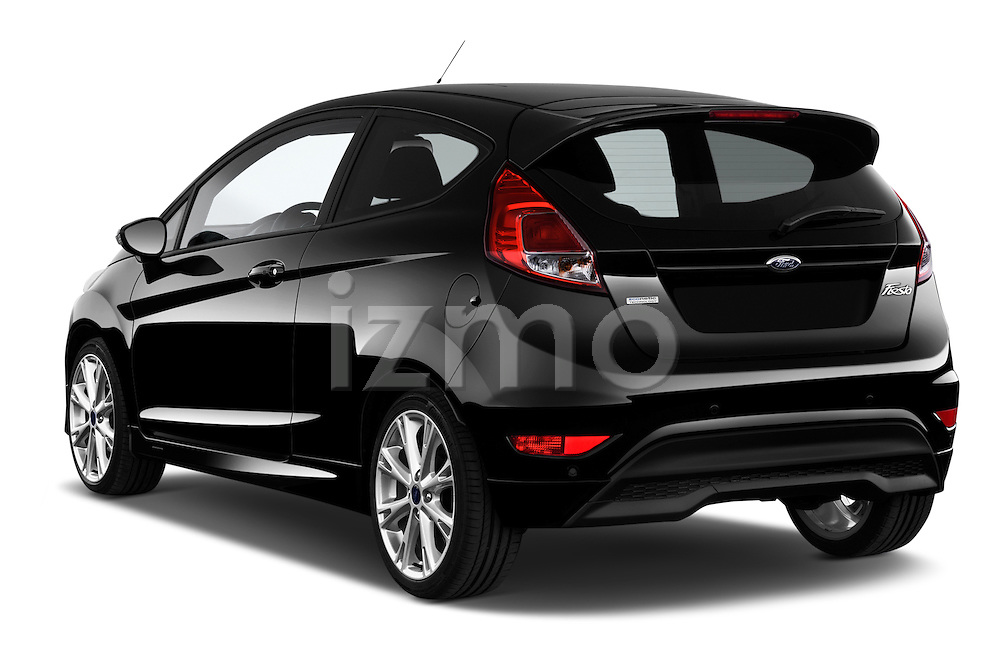 Car pictures of rear three quarter view of a 2014 Ford FIESTA Sport 3 Door Hatchback 2WD Angular Rear
