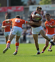 20th July 2013; Paul Conroy, Galway, in action against, Ciaran McKeever, Armagh. All Ireland Football Senior Championship Round 3, Galway v Armagh, Pearse Stadium, Galway