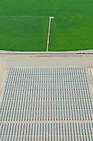 San Luis Valley, Colorado, crop circles.  Solar power plant
