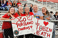 Piscataway, NJ - Sunday Sept. 25, 2016: young fans prior to a regular season National Women's Soccer League (NWSL) match between Sky Blue FC and the Portland Thorns FC at Yurcak Field.