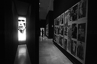 """Victims. <br /> <br /> Rome, 27/01/2019. Today is the International Holocaust Day, also called Holocaust Memorial Day in UK & Italy. A day designated by the UN General Assembly resolution 60/7 on 1 November 2005 to remember the victims of the Holocaust: 6 million Jews, 2 million Gypsies (Roma & Sinti), 15,000 homosexual people, and millions of others killed by the Nazi regime and its collaborators. The 27th of January (1945) marks the day of the liberation by the Soviet Union Army of the largest death camp, Auschwitz-Birkenau (74th Anniversary). To coincide with the Holocaust Memorial Day the Palazzo delle Esposizioni presents its last experiential exhibition called Witnesses of Witnesses. Remembering and Recounting Auschwitz. From the event website: <<Following a memory trip to Auschwitz, the heart of the devastating Shoah that rocked and shocked the 20th century, a group of students from various Rome high schools began to envisage a different way of recalling those horrific events. These boys' and girls' encounter with Studio Azzurro – a well-known Italian artists' collective involved in experimenting with the language of new media – has spawned """"Witnesses' Testimonials. Recalling and recounting Auschwitz,"""" the first experiential exhibition designed by students in an institutional space within the capital, to be experienced as an event that urges visitors to undertake a physical and mental journey to keep the memory of the story alive. […] A narrow space, which visitors are urged to enter, conjures up the cattle trucks used for deportation. The doors slide shut. In the darkness we hear the voices of Mussolini and Hitler, the frenzied chanting of the adoring crowds, and the insistent drumming of the train on the tracks. The doors open […]>>.<br /> For more info please click here: https://www.palazzoesposizioni.it/ & https://bit.ly/2RkbUTT"""