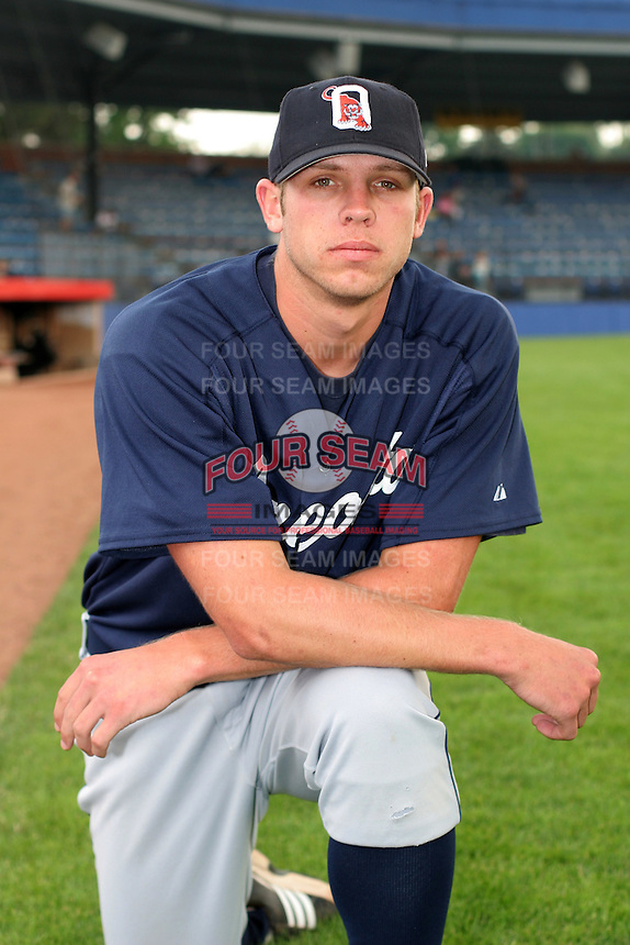 Oneonta Tigers Casey Fien poses for a photo before a NY-Penn League game at Russell Diethrick Park on July 9, 2006 in Jamestown, New York.  (Mike Janes/Four Seam Images)